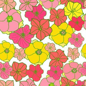 hawaii floral in pinks