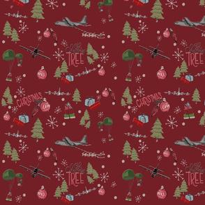 Christmas MC on red
