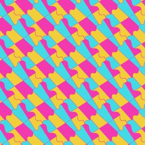 Color geometric tesselation square