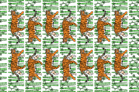 Jungle Tigers Tea Towel fabric by always_june on Spoonflower - custom fabric