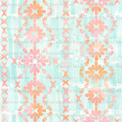 boho basic -03 peach _ mint