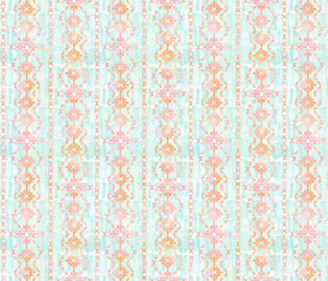 boho basic -03 peach _ mint fabric by schatzibrown on Spoonflower - custom fabric