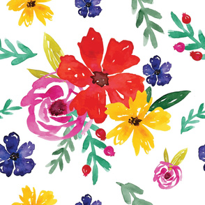 Watercolor Floral Pattern 9