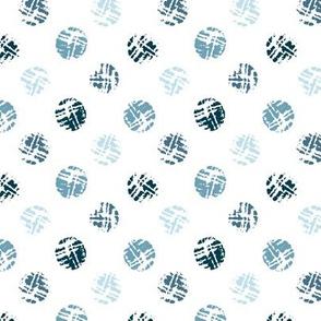 Polka dot in blue-gray colors