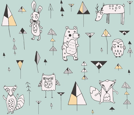 forest fabric by whiteparrot on Spoonflower - custom fabric
