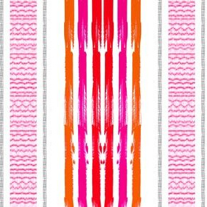 Pink Orange blanket Stripes vertical