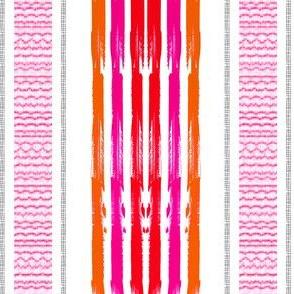 Pink Orange blanket Stripes vertical