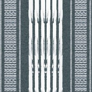 Gray and White Stripes blanket vertical