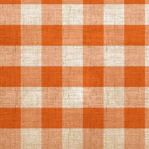rustic orange gingham check farmhouse