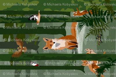 fox and friends tea towel