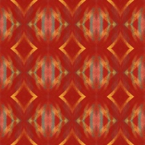 Red and Yellow Abstract Diamonds  | Artistic Texture