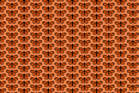 SchmetterlingPFIRSICH fabric by mietz_&_morle on Spoonflower - custom fabric
