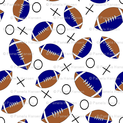 football half blue