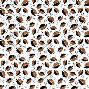 football half black, white, brown small