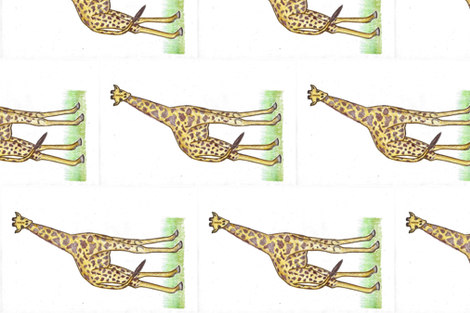 Natural Habitat - Giraffe fabric by kate's_kwilt_studio on Spoonflower - custom fabric