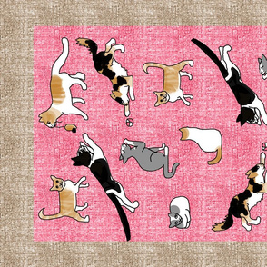 Playful Cats Tea Towel