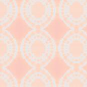 Peach and white circles