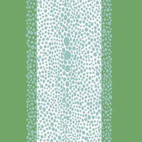 Shagreen Stripe Green and Aqua