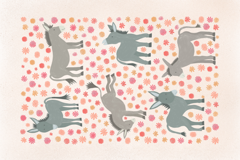 Darling Donkeys fabric by monicaanndesign on Spoonflower - custom fabric