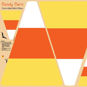 Candy Corn Cut and Sew Mini Pillow