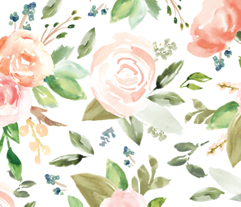Vintagely Floral fabric by angiemakes on Spoonflower - custom fabric