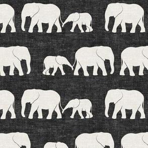 elephants march - charcoal