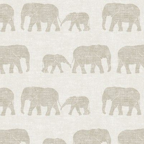 elephants march - beige