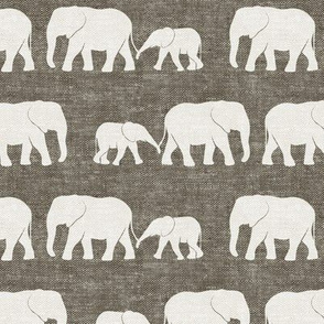 elephants march - taupe