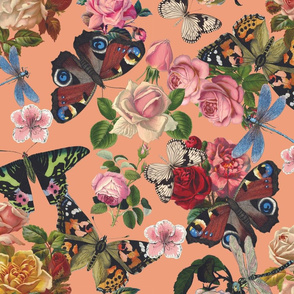 Butterflies and Flowers all over