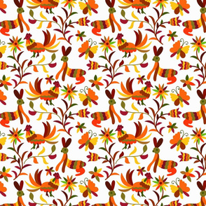 Native American Otomi Fall Colors Chickens