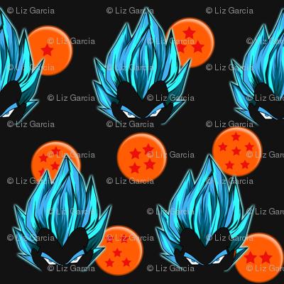 Dragon Ball Inspired Vegeta Blue