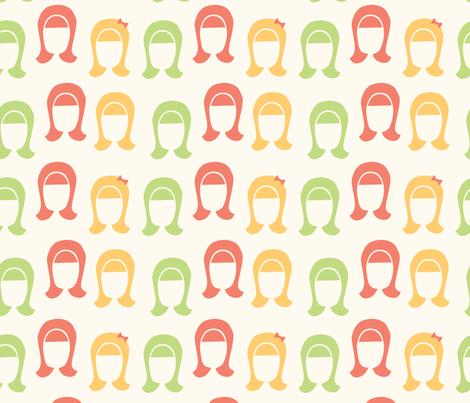that girl - sherbet fabric by emilygutman on Spoonflower - custom fabric