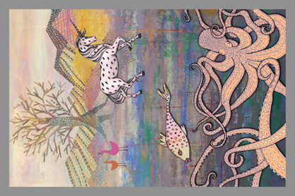 fantastic scene fabric by lucybaribeau on Spoonflower - custom fabric