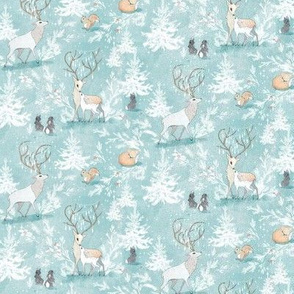 Vintage Woodland Christmas (ICE BLUE) Micro