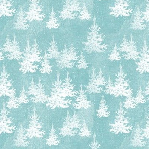 Christmas Pine Forest (ice blue)
