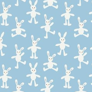Bunny on baby blue