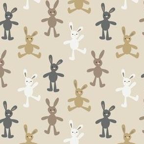 Bunny on beige