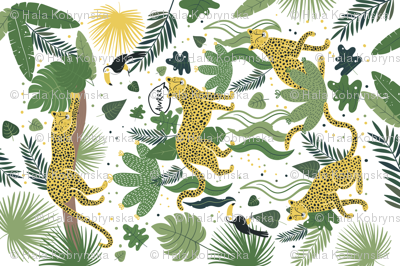 Who is hiding in the Jungle? Tea Towel