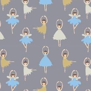 Ballerina on grey