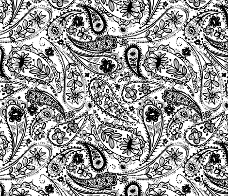 paisley linea fabric by laura_may_designs on Spoonflower - custom fabric
