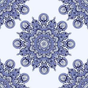fortune mandala marine blue