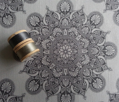 fortune mandala soft gray