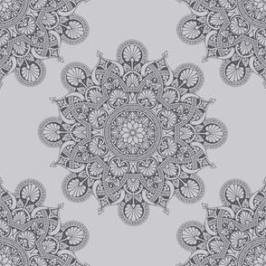 fortune mandala soft gray