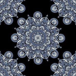 fortune  mandala darkest blue