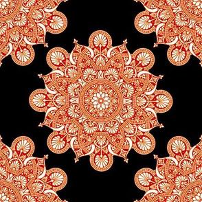 fortune  mandala dark rust