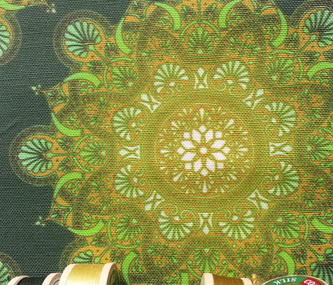 fortune  mandala forest green
