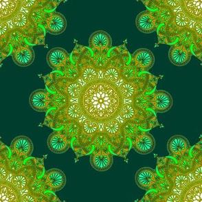 fortune  mandala forest green