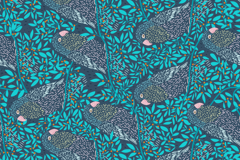 birds fabric by y_me_it's_me on Spoonflower - custom fabric