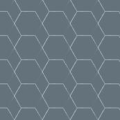 Hex Geometric White on Grey