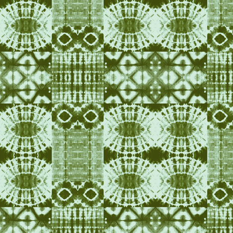 Green tile abstract fabric by studio_amaranthine on Spoonflower - custom fabric